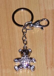 Gorgeous Diamante crystal Teddy Bear  bag charm / key ring