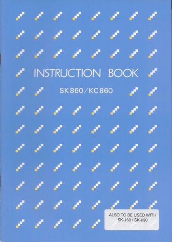 Silver Reed SK860 MID-GAUGE ELEC. KNITTER - Instruction Book *NEW* Mfg Orig