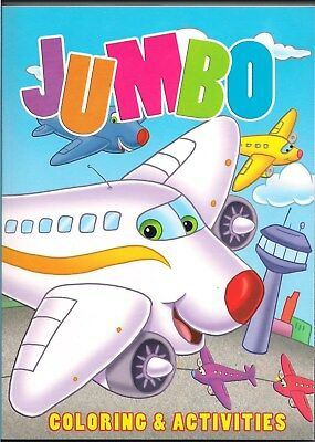 Jumbo Coloring & Activities Childrens Coloring Book 384 Pages Crayons Pencils Ki