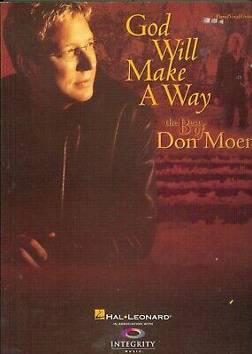The Best of Don Moen God Will Make A Way song book sheet music Christian