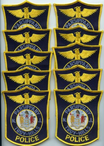PARSIPPANY - TROY HILLS NEW JERSEY Trade Stock 10 Police Patches POLICE PATCH
