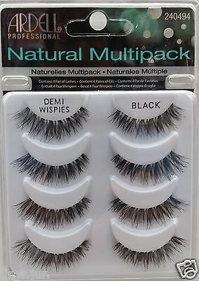 Ardell DEMI WISPIES NATURAL MULTI PACK (4 Pairs)  False Eyelashes Fake Lashes
