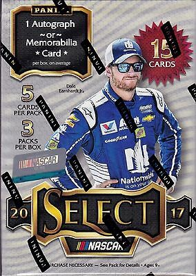 2017 Select Racing sealed Blaster box 5 packs of 3 NASCAR cards 1 hit
