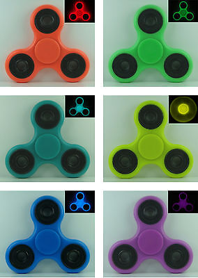 FIDGET SPINNER GLOW IN THE DARK Red Green Teal Yellow Blue Purple Made in the US (Red Glow In The Dark)