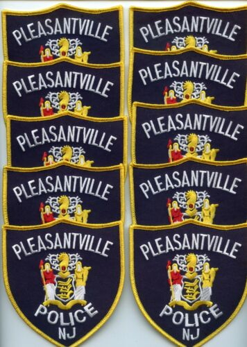 PLEASANTVILLE NEW JERSEY Patch Lot Trade Stock 10 Police Patches POLICE PATCH