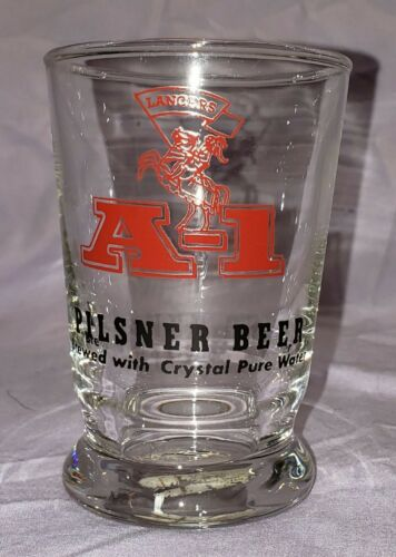 "Arizona Lancers A-1 Pilsner Beer Glass 3 3/4"" Tall"