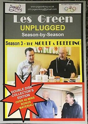Racing Pigeon DVD - LES GREEN UNPLUGGED Season 3 - The Moult & Breeding