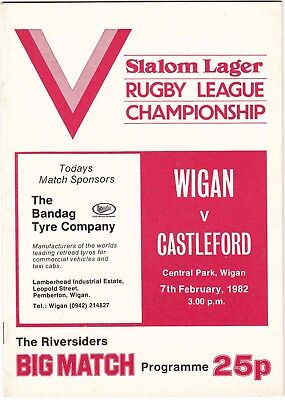 Wigan v Castleford 1981/2 (7 Feb)