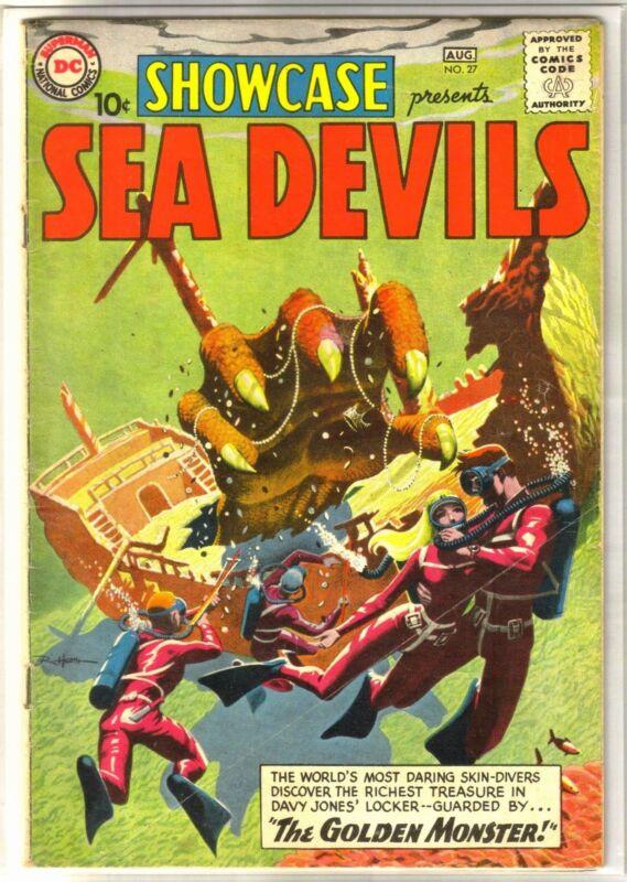 Showcase Presents #27 SEA DEVILS First Sea Devils Comic Book ~ VG