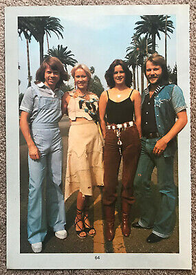 ABBA - 1980 Full page UK magazine annual poster