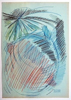 Aquarell Salz (Jakob Salzmann *1942 USA: Erscheinung des Lichts Aquarell Farbstift 1990er Jahre)