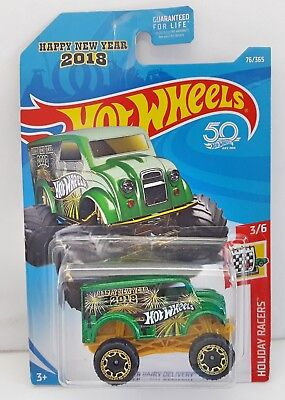 Hot Wheels   Happy New Year 2018   Monster Dairy Delivery   50Th Anniversary