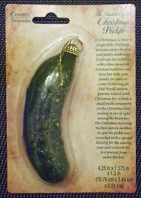 Christmas Tree Pickle Ornament,German Holiday Hide & Find Tradition Custom Game ()