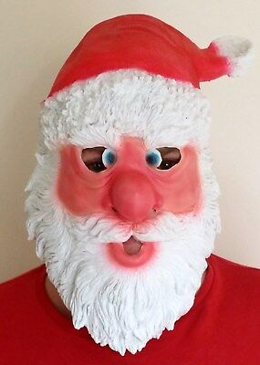 Latex Santa Claus Mask -UK Father Christmas Rubber Foam fancy dress Xmas outfit ](Father Xmas Outfits)