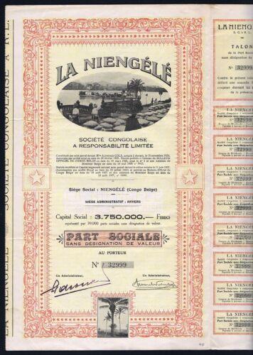 1927 Belgian Congo: La Niengele Societe Congolaise