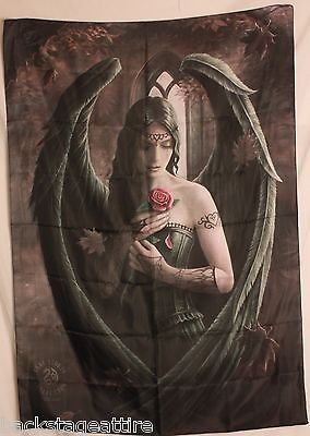 "ANNE STOKES Angel Rose 29""X43"" Cloth Poster Flag Fabric Textile Tapestry-New!"