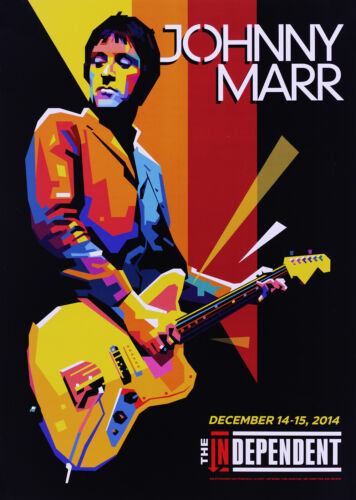 The Smiths Johnny Marr 2014 San Francisco, CA Exclusive Concert Poster