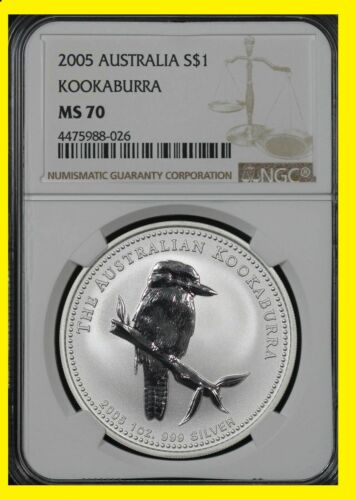 2005 Australia Kookaburra perfect low pop NGC MS 70