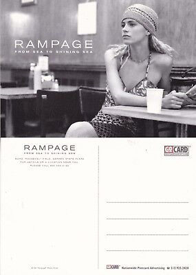 RAMPAGE SHOES & BAGS UNUSED ADVERTISING COLOUR POSTCARD