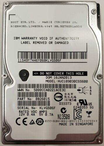 "IBM 0B26015 2.5"" 10K SAS 300GB HARD DRIVE TESTED WARRANTY"