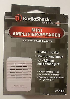 Radioshack Mini Amplifier Speaker  277 1008  Brand New   Free Usa Ship