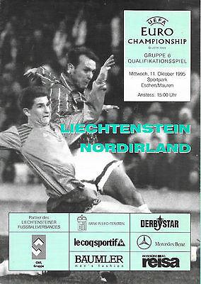 Liechtenstein v Northern Ireland, 1995/96 - European Championship Qual Programme