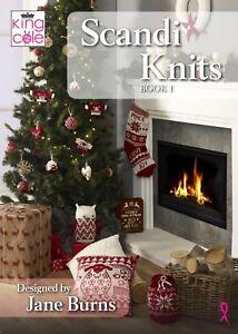 SCANDI KNITS  SCANDINAVIAN INSPIRED CHRISTMAS KNITTING PATTERN  KING COLE BOOK 1