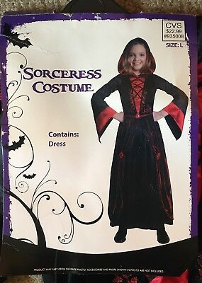 Girls Wicked Sorceress Halloween Costume~Girls Child Size Large
