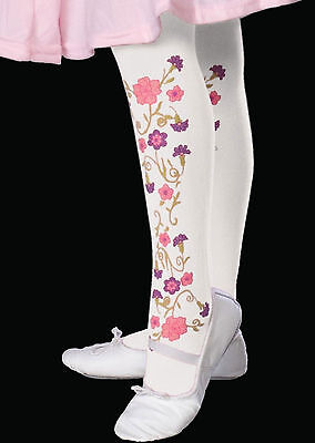 Novelty Dance Costumes (Child Flower Tights formal dance model clown girl costume ballet Rubies pageant)