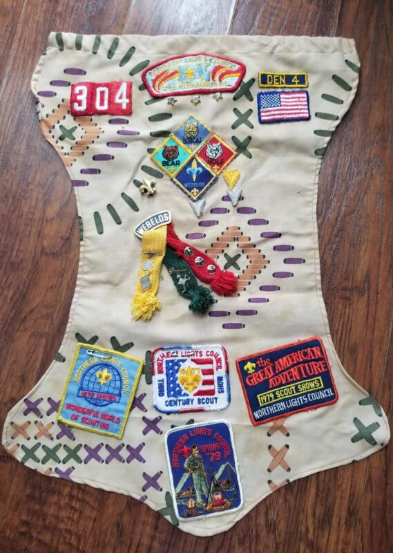 Vintage Northern Lights Cub Scout Webelos Badges Patches & Pins 1970s
