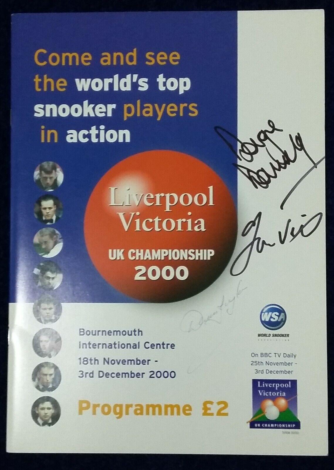 UK Snooker Championship 2000 Programme