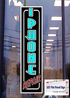 Led Sign Iphone Repair Window Sign 48x12 Neon Banner Alternative New Gen Leds