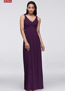 Beautiful plum size 16 bridesmaid dress.