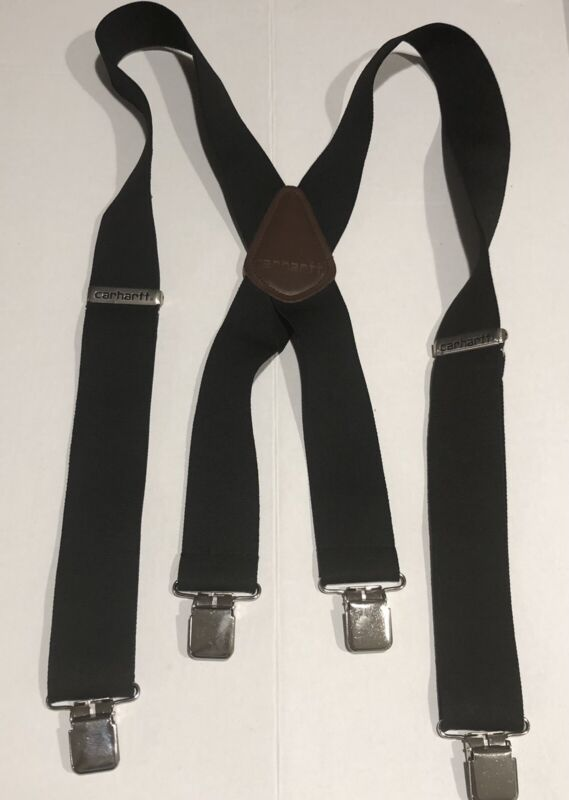 "Carhartt Utility Suspenders 2"" Wide W/ Adjustable Clips 52"" Length Black ."