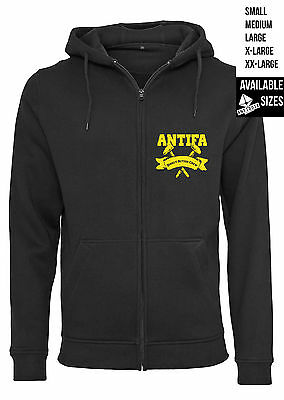 ANTIFA - Zipper Hoodie - ANTIDOTE STREETWEAR Hardcore Punk Judge Straight Edge
