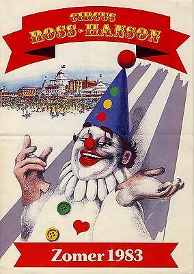 Zirkus CIRCUS ROSS-HANSON Niederlande * Programm 1983