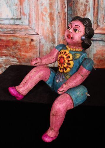 Large Articulated Clay Doll Muñeca Handmade by Rafael Pineda Mexican Folk Art
