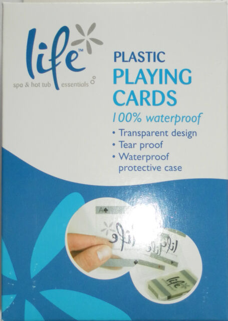 WATER PROOF PLASTIC PLAYING CARDS