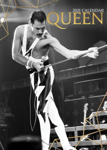 QUEEN 2021 A3 POSTER SIZE CALENDAR NEW AND SEALED
