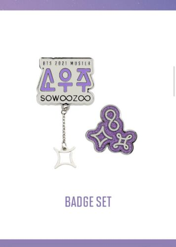 Sparkly BTS SOWOOZOO 2021 Badge Set - $30.00