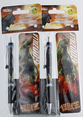 Inkworks Godzilla Gel Pen Bookmark 0.7 Mm Brand New Sealed Pack Of 2