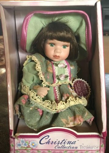 NEW CHRISTINA COLLECTION FINE GENUINE PORCELAIN DOLL FOR 8+ YEARS