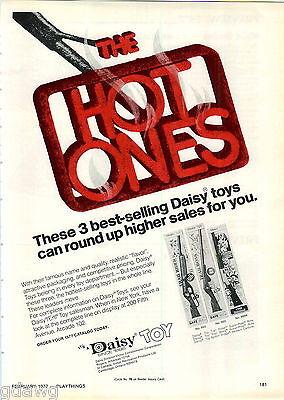 1977 ADVERT Daisy Air Rifle BB Gun Trail Rider Boss Western Carbine Spittin Imag