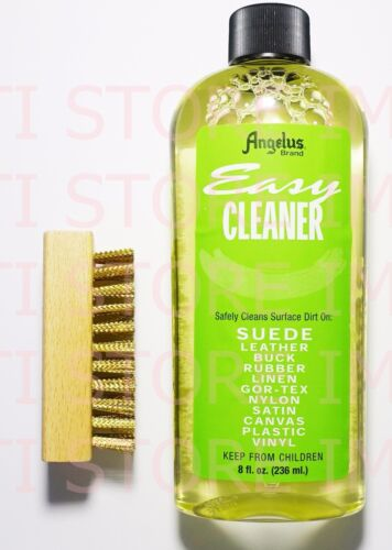 Angelus Easy Cleaner Suede Cleaning Kit Shoe Cleaning kit 8oz With Brass Brush