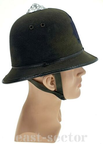 Original British BOBBY Helmet Hard Cap Hat Vintage Bobbys United Kingdom UK