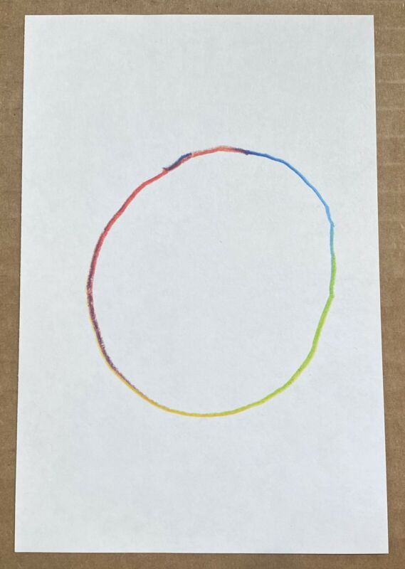 Jason Polan - All of the Colors: Hand Drawn Circle, 2012 - 20 X 200 - RARE!