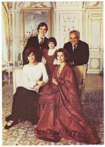 Grace (1929-1982) and Rainier (1923-2005) of Monaco - Signed photograph