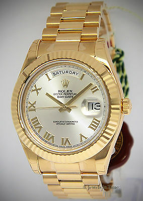 $32500.00 - Rolex NEW Day-Date II President 18k Yellow Gold Mens Watch Box/Papers 218238