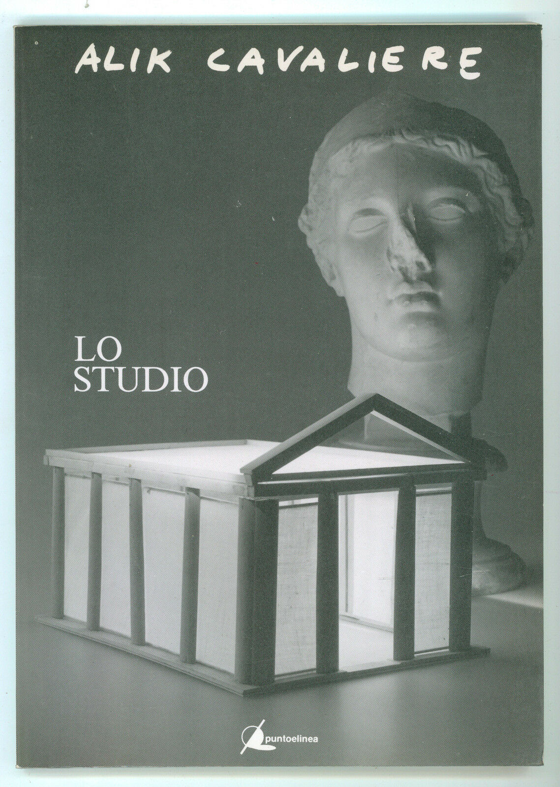 ALIK CAVALIERE LO STUDIO PUNTO E LINEA 1990 AUTOGRAFO ARTE SCULTURA