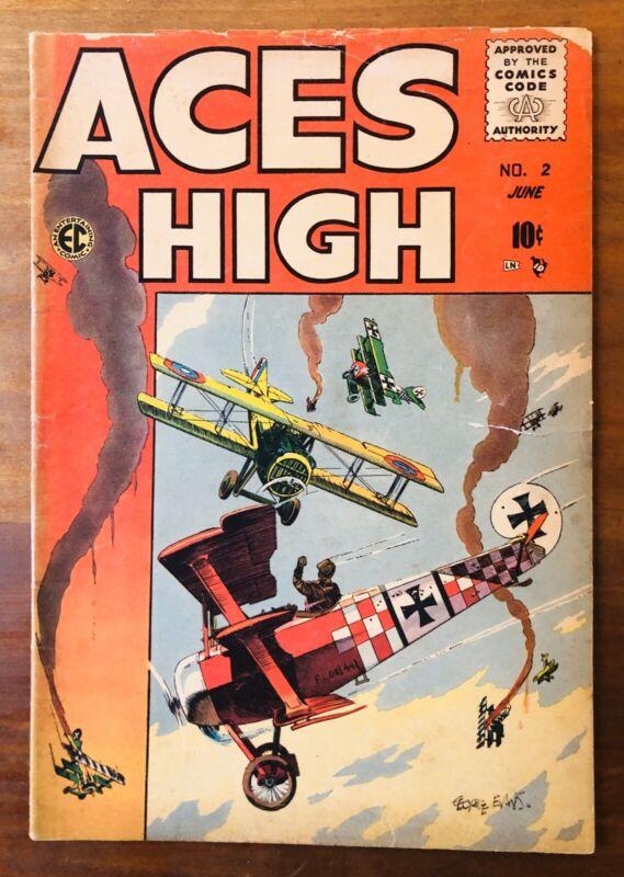 ACES HIGH #2 * GOLDEN AGE COMICS * 1955 E.C. AN Entertainment Comic  * WAR Book